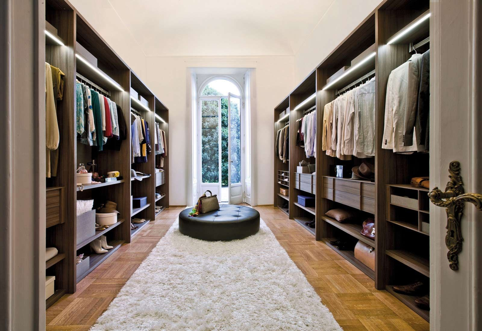 Admirable Walk In Closet Ideas Applying Wooden Flooring